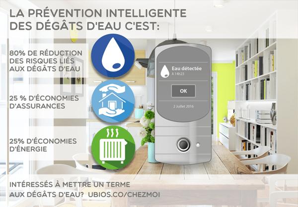 Les bénéfices de la prévention intelligente des dégâts d'eau